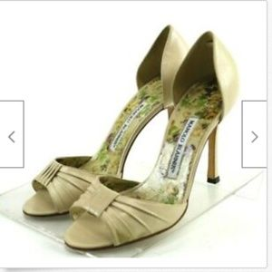 Manolo Blahnik Women's Pumps Sz EU 36 US 6 Beige